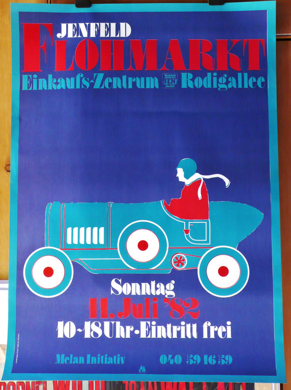 Jenfeld Flea Market Event Poster 1982 Germany