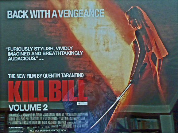 Kill Bill - Volume 2  UK Quad 2004