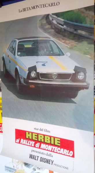 Herbie - Monte Carlo. Lancia. Rare Original Movie Poster.