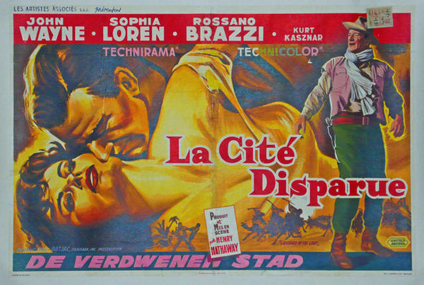Legend of the Lost Belgium 1957 Original Movie Poster