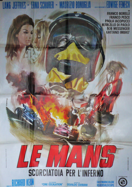 Le Mans Summer Love Original Movie Poster Italy 1970