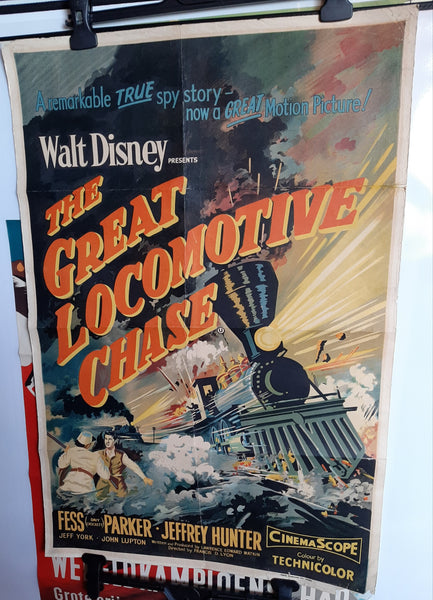 The Great Locomotive Chase - Disney, 1956 Original Movie Poster - Civil War