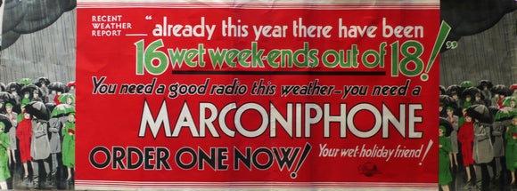 Marconiphone - 1940s Original Advertising Poster