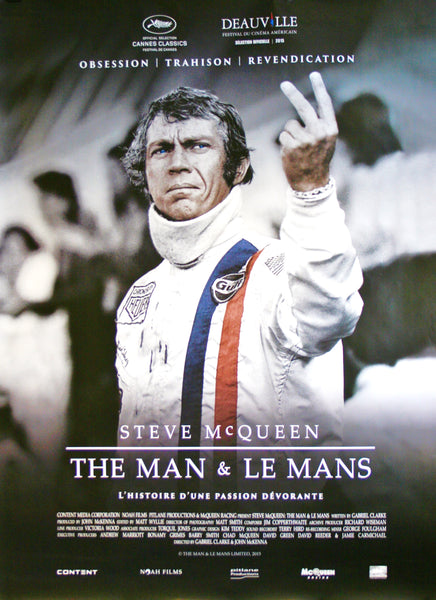McQueen - The Man & Le Mans - Original French Movie Poster, 2015