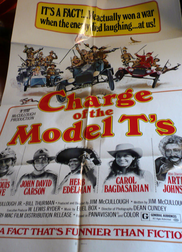 Charge of the Model Ts, Original US Movie Poster