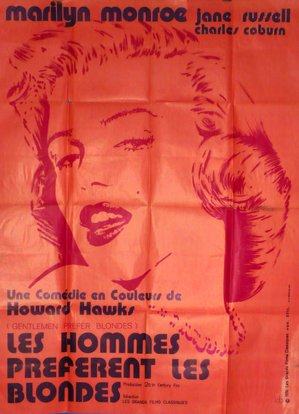 Gentlemen Prefer Blondes, Monroe, Russell, France 1974