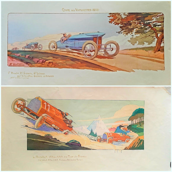 The Best of Geo Ham + Other French Motoring Artists - Many items, Prices from £15 - £100