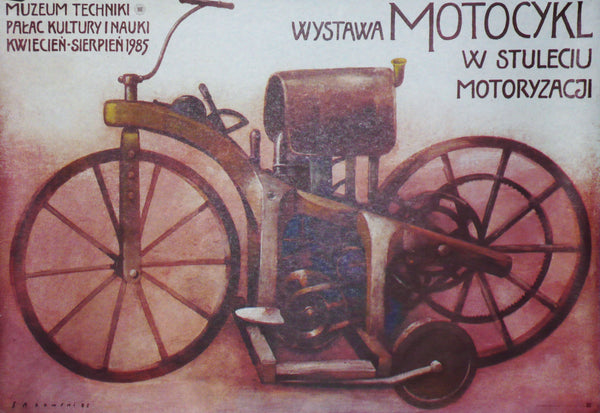 Wystawa - Original Polish Motorcycle Exhibition Poster, 1985