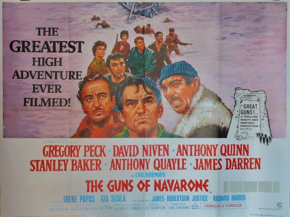 The Guns of Navarone, Original UK Movie Poster, 1974
