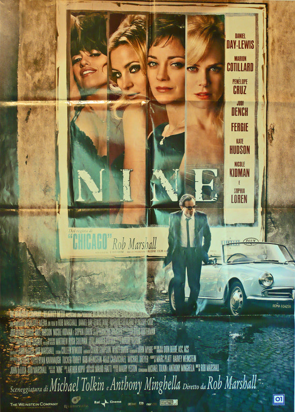 Nine, Original Movie Poster, Italy, 2009