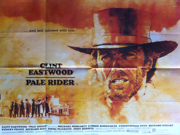 Pale Rider - Original Movie Poster - Clint Eastwood 1985