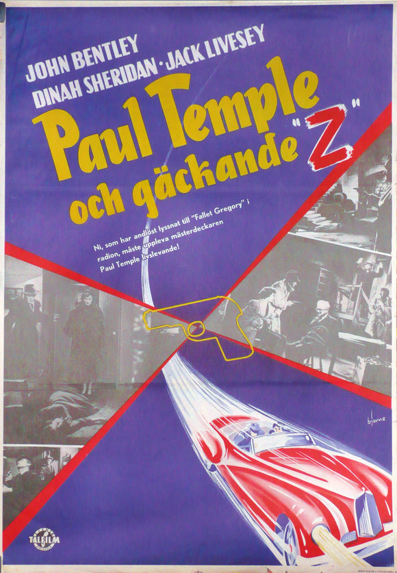 Paul Temple 's Triumph. Original Movie Poster