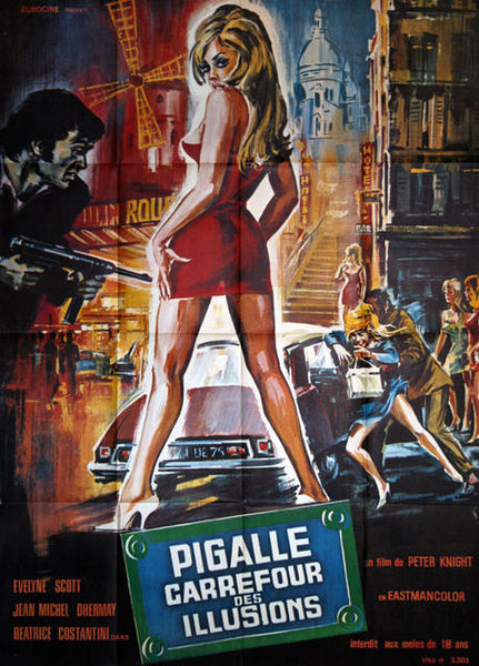 Pigalle - Carrefour des Illusions - Original Movie Poster, France 1973.