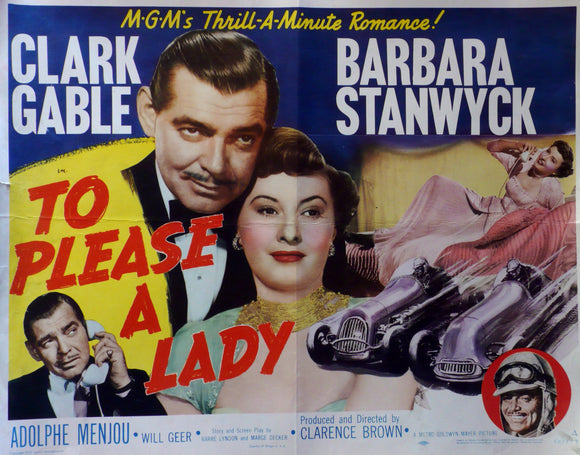 To Please a Lady - Original US Movie Poster, 1950, Indianapolis