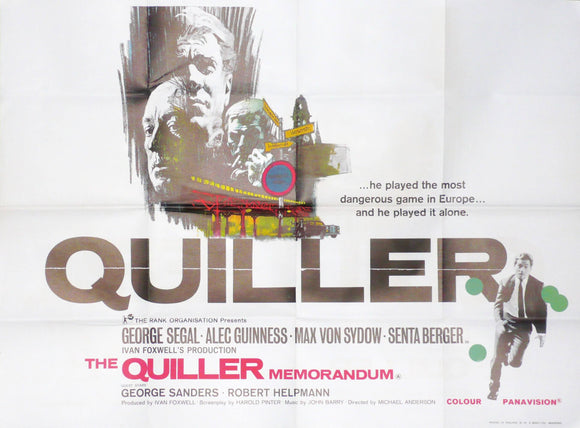 Quiller Memorandum, UK, Original Movie Poster