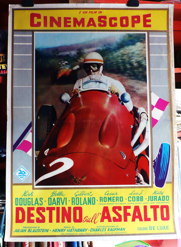 The Racers Original Italian Movie Poster