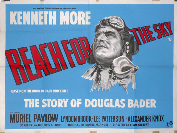 Reach For the Sky - Original UK Re-release Movie Poster, 1960s