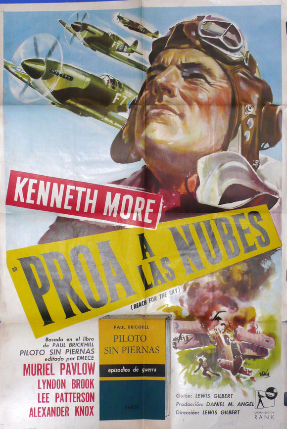 Reach for the Sky, Argentina 1957 Original Movie Poster
