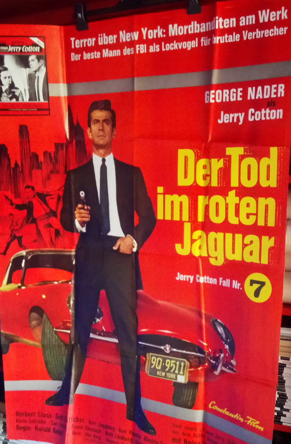 Red Jaguar, Original German Movie Poster, 1968