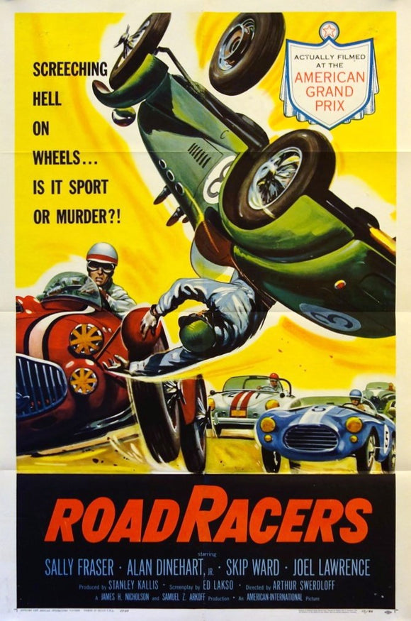Roadracers - Original Movie Poster, USA 1959 - Allard, Ferrari, Porsche