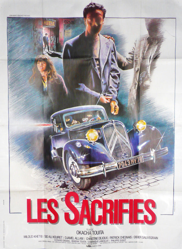 Les Sacrifies, Original French Movie Poster - Citroen