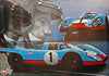 Jo Siffert - Gulf Oil Tribute Poster - Porsche 917