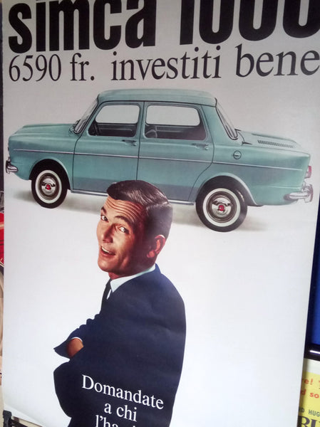 Simca 1000, 1963, Original Swiss Showroom Poster