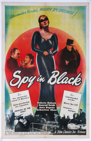 Spy in Black, Original Movie Poster