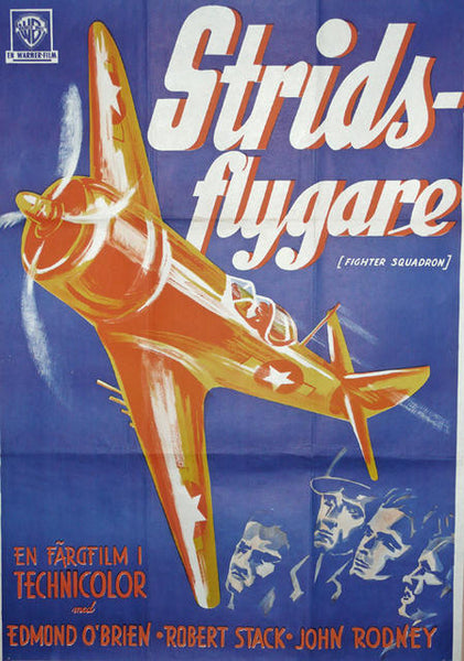Fighter Squadron Original Movie Poster Sweden 1948