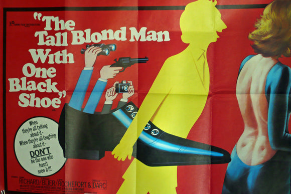 Tall Blonde Man With One Black Shoe - Original UK Movie Poster, 1972.
