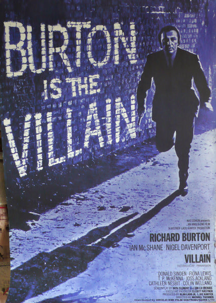 Villain - Richard Burton. Original UK Movie Poster, 1971