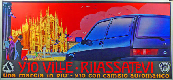 Lancia Showroom Poster  Italy 1994