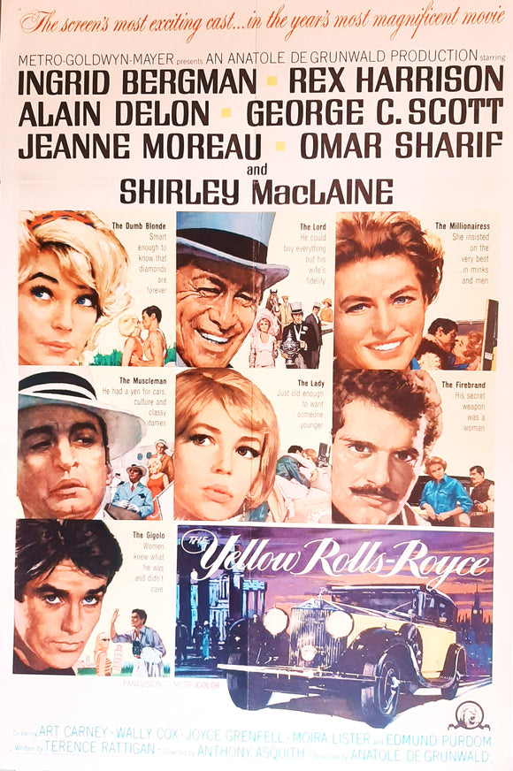 The Yellow Rolls-Royce, Original US Movie Poster, 1965