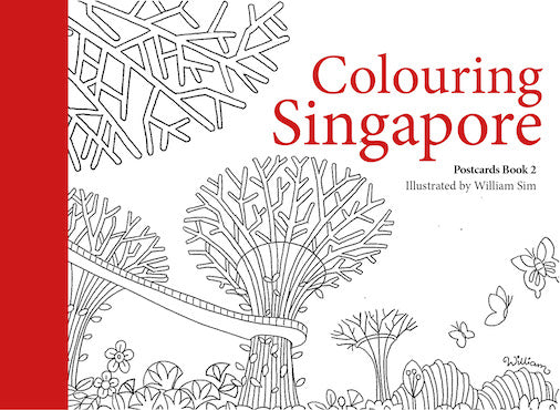Colouring Singapore Postcards Book 2