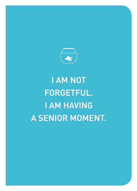 I Am Not Forgetful. I Am Having A Senior Moment. - Localbooks.sg