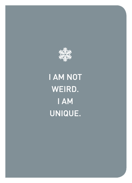 I Am Not Weird. I Am Unique. - Localbooks.sg