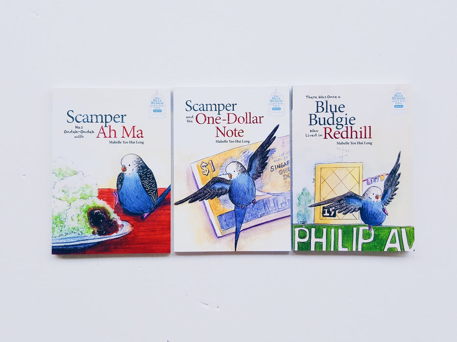 Blue Budgie Can't Stay Still Series (Set of 3 books)