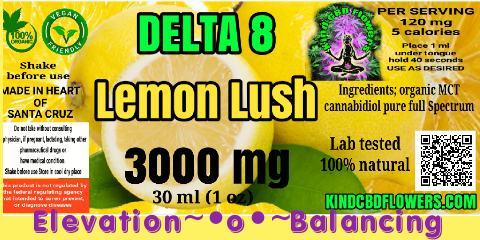 3000MG Delta 8 lemon lush TINCTURE