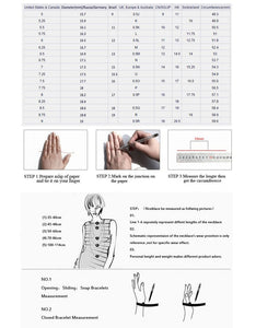 Jewelry sizing chart by Heed Need