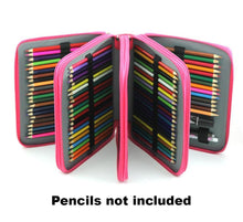 Large multi-layer leather pencil or texta case with separate compartments by Heed Need
