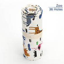 Cute and functional makeup or art brush and pencil storage and organizer roll