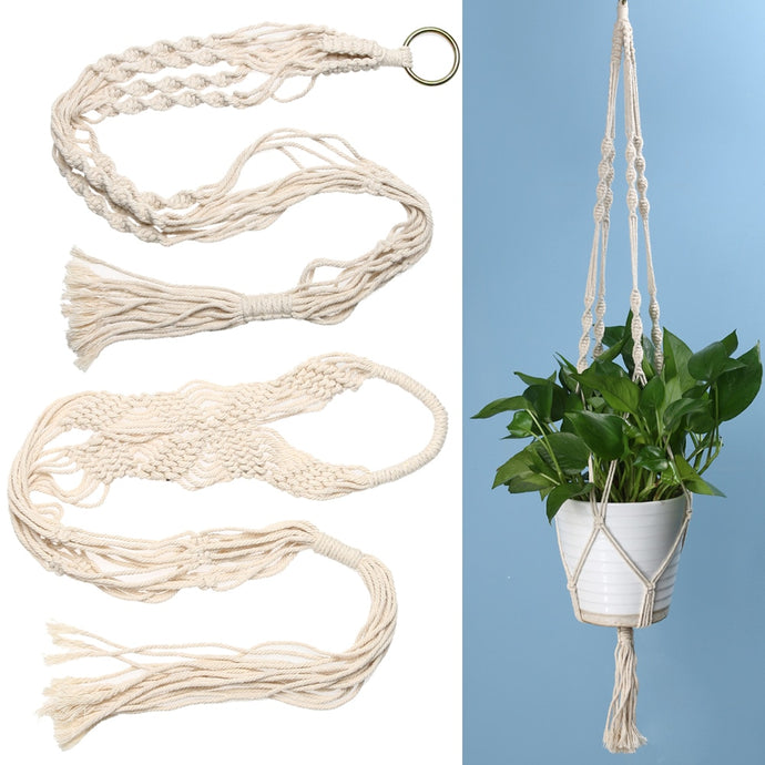 Bring nature inside with this vintage styled jute macramé plant hanger
