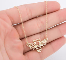 Wear the wonderful bee as a delicate pendant on a lightweight chain by Heed Need