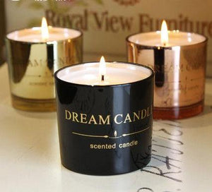 Dreamy aromatically fragrant wax candles in beautiful containers by Heed Need