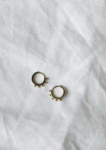 Dotted Huggie Hoops
