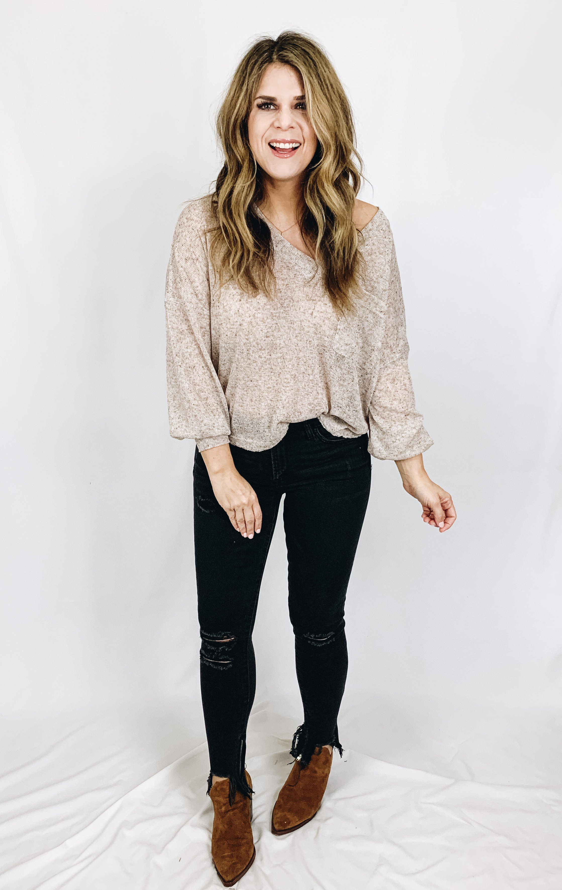 Faye Distressed Skinny Jeans