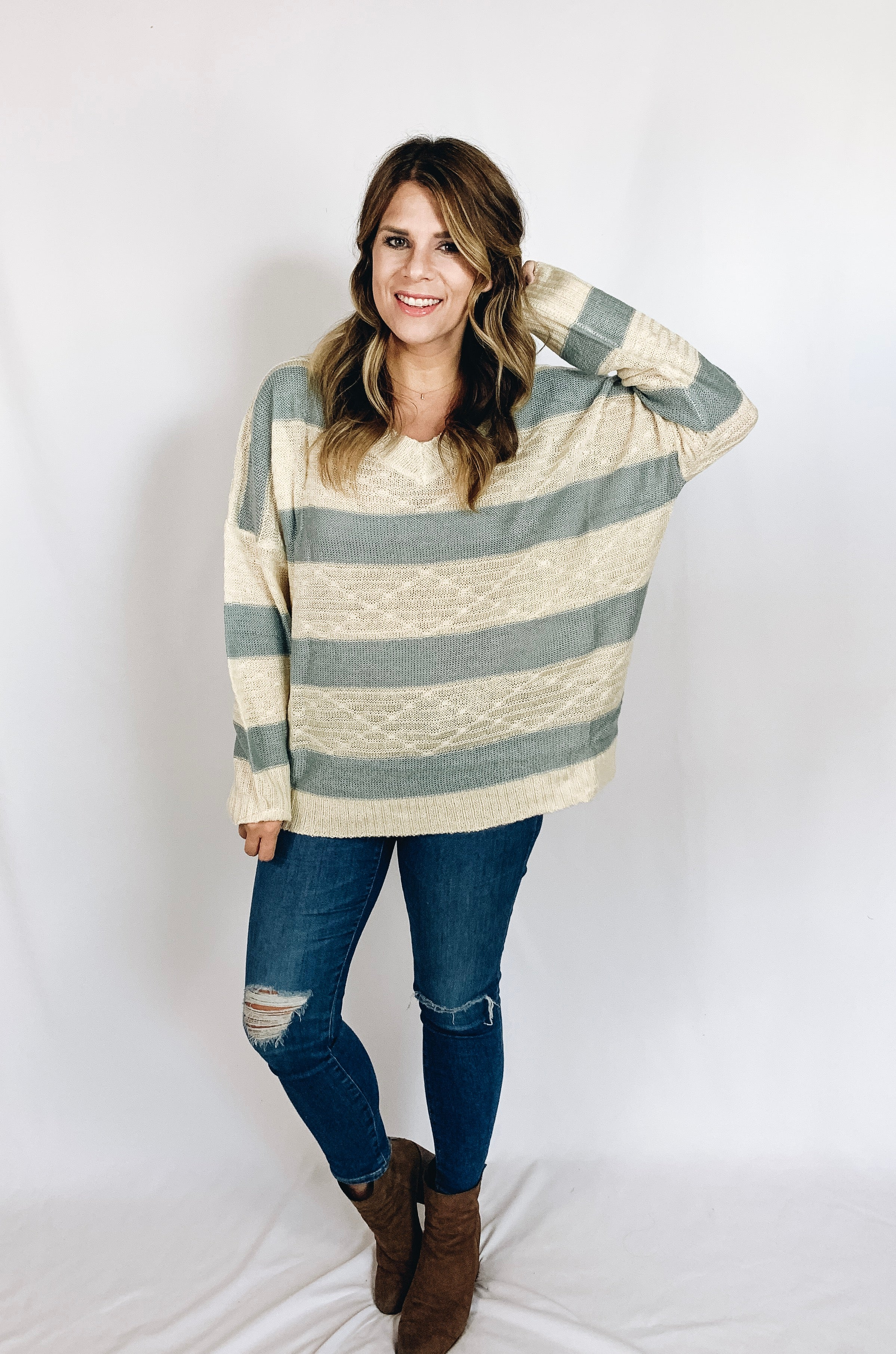 Aria Striped Sweater