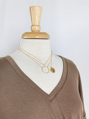 Aiden Circle Necklace- Gold