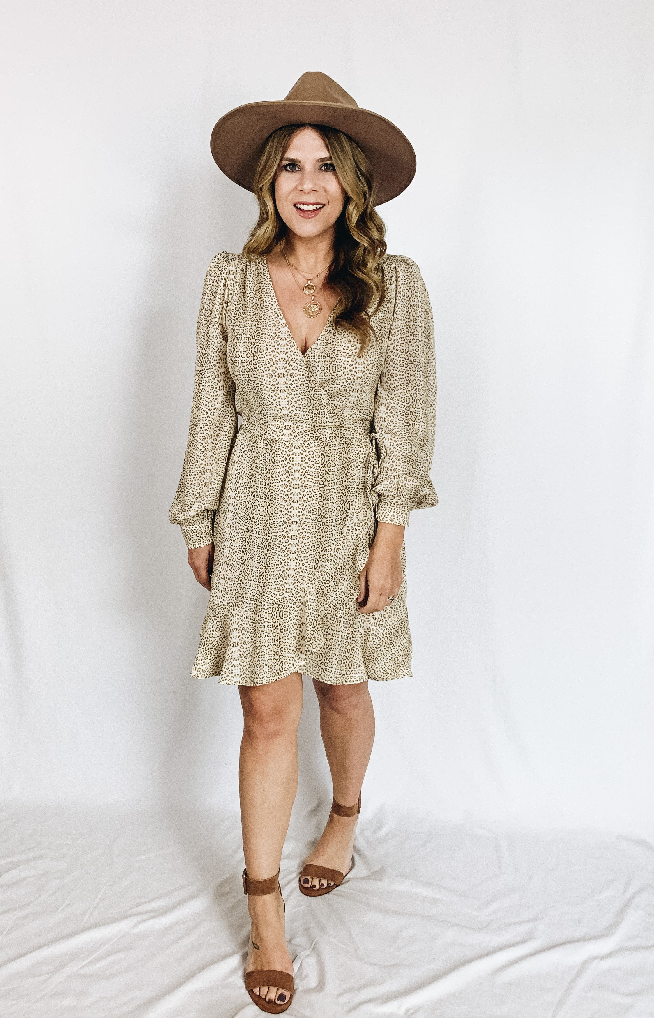 Chloe Leopard Wrap Dress