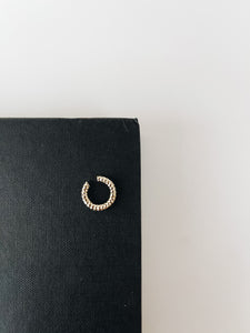 Hammered Ear Cuff- Gold